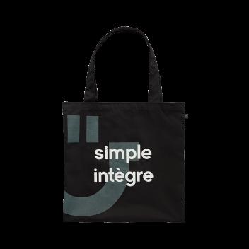 sac réutilisable noir
