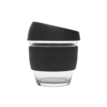 glass cup black